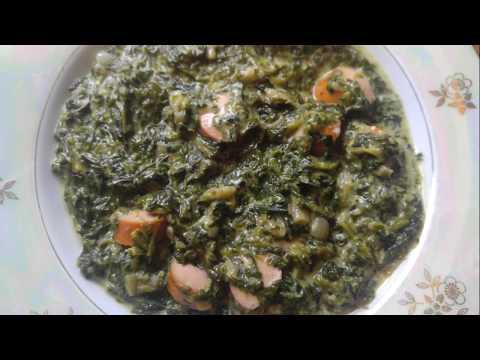 epinards-à-la-crème-fraîche-et-saucisses-|-rahmspinat-mit-würstchen-|-cream-spinach