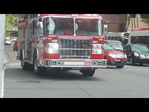 Calgary Engine 6 & Rescue 2 Arriving