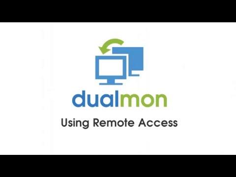 dualmon - Using Remote Access