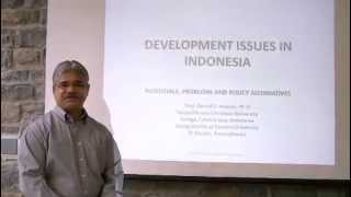 Development Issues in Indonesia, by Daniel Kameo