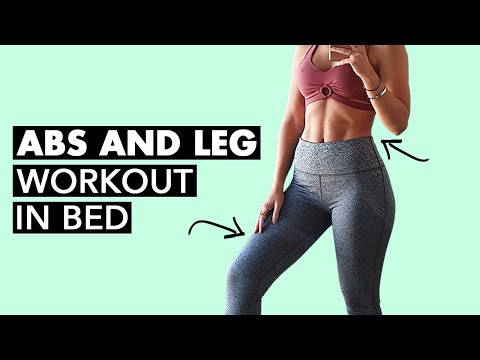 Abs and Leg Workout In BED (10 Mins)