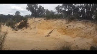 More Evidence of the Great Mudflood! Trillions of Tons of Beach Sand Hundreds of Miles Inland - W.A.