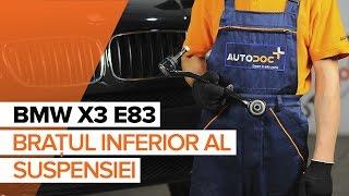 Montare Brat Suspensie spate și față BMW X3 (E83): video gratuit
