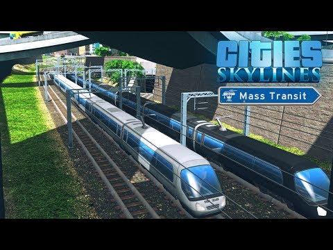 Cities Skylines Mass Transit - Расширение железной дороги! #37