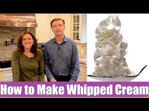 Amazing Homemade Whipped Cream with No Sugar!