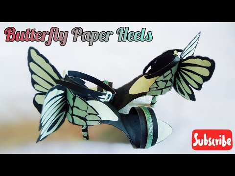 How to Make High Heels Shoes | Paper High Heels | Handmade Party Shoe | Paper Craft | Dazzled Angel