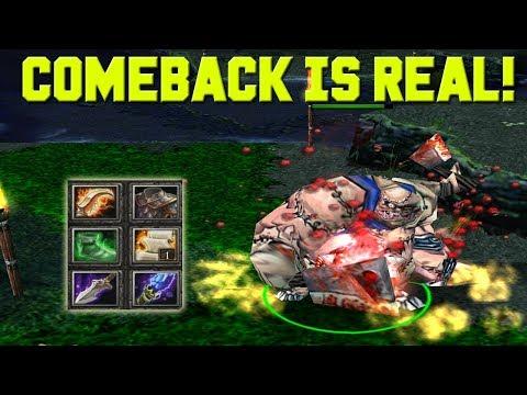 DOTA PUDGE COMEBACK IS REAL! (HARD GAME)