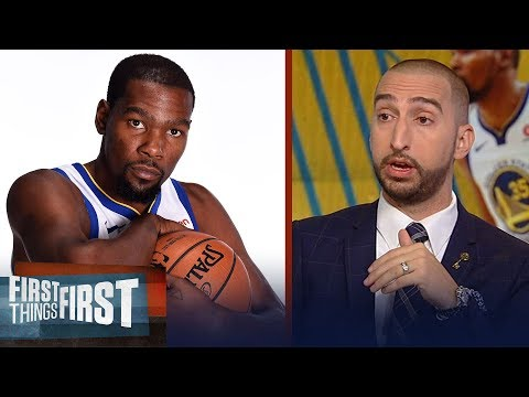 Nick: There's a real possibility even if the Warriors 3-peat, KD leaves | NBA |  FIRST THINGS FIRST