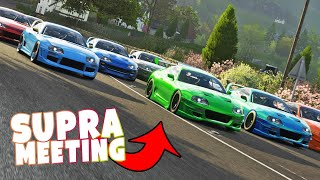 FORZA HORIZON 4  9x TOYOTA SUPRA MK4 meeting + Drag racing
