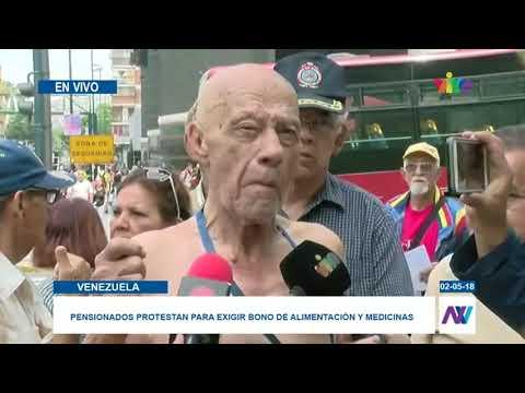 Protesta de pensionados en Caracas - Noticias En VIVO