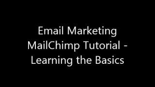 Email Marketing MailChimp Tutorial