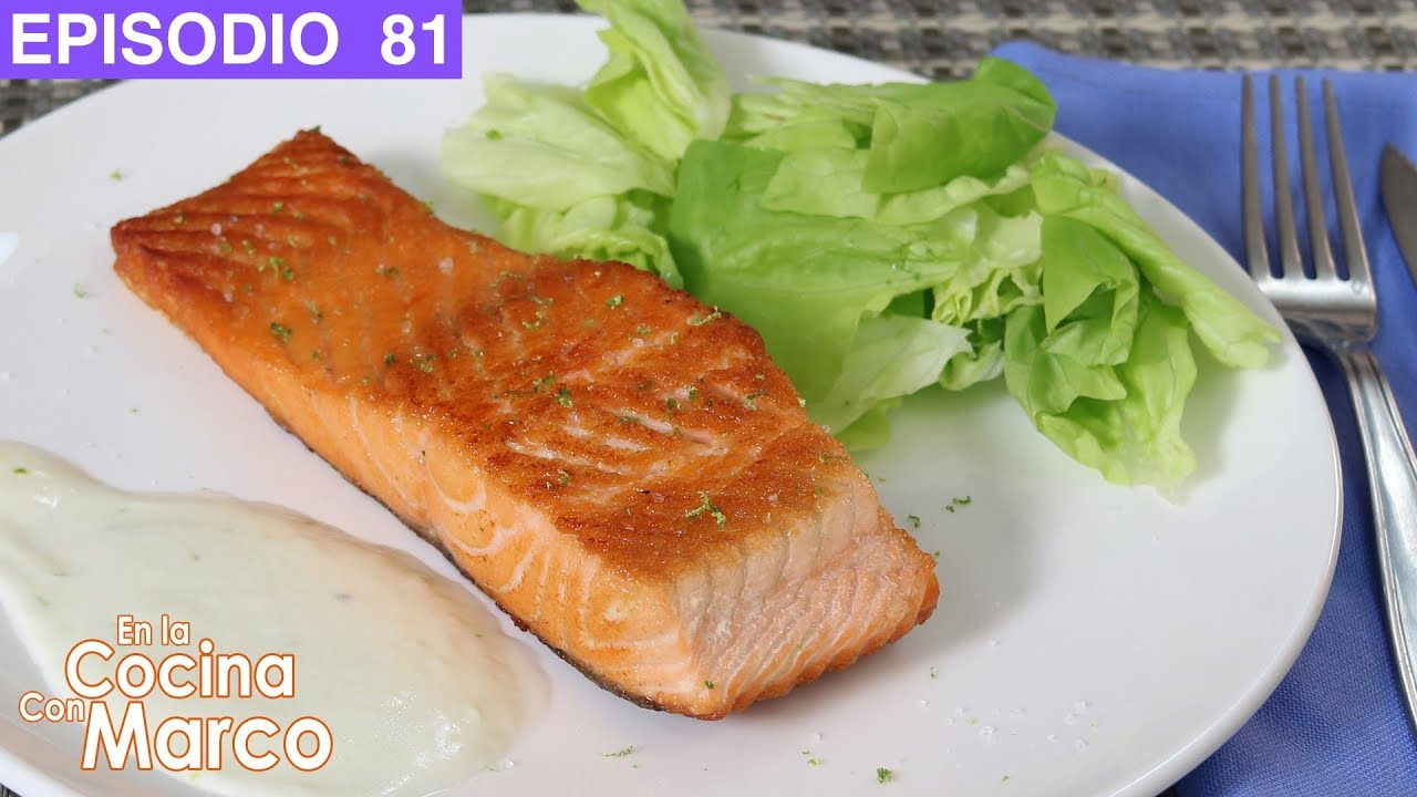 Filete de salmon a la sarten con aderezo facil - recetas de pescado ...