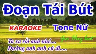 Karaoke - Đoạn Tái Bút - Tone Nữ - Nhạc Sống - gia huy beat