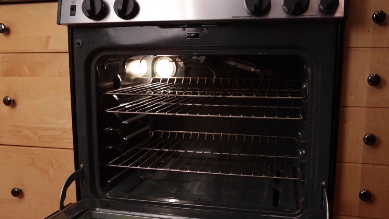 How To Clean A Natural Gas Oven  YouTube