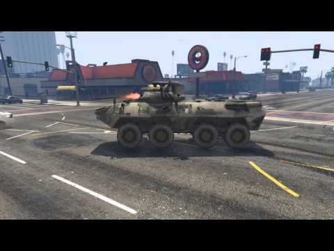 GTA 5 PC MODS -  BTR- 90 ROSTOK