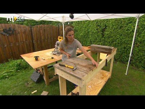 Maak je eigen oppottafel eigen huis tuin youtube for Foto op hout maken eigen huis en tuin