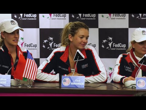 Team USA Fed Cup 2017 Championship Press Conference