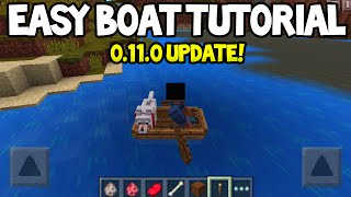 Minecraft Pocket Edition - 0.11.0 Update! - How to Use Boats! - New Tutorial + Features!