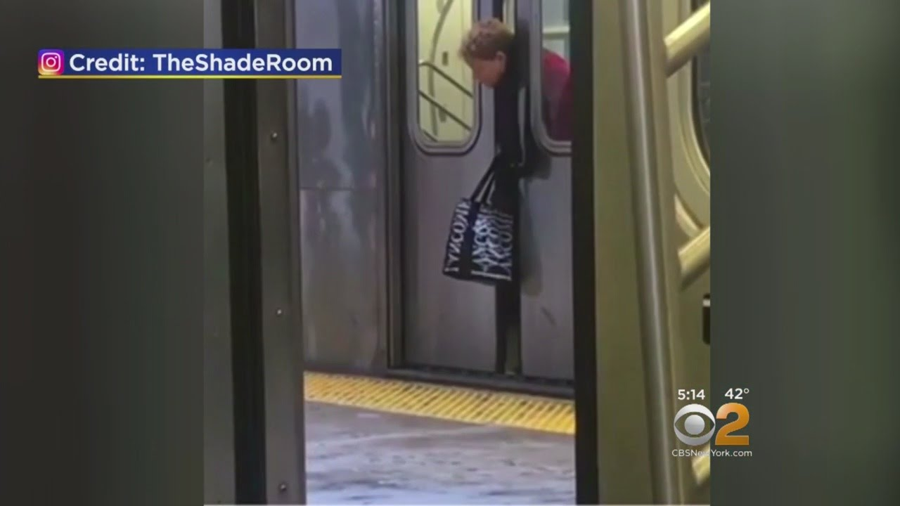 Must See Woman Gets Stuck In Subway Doors & Must See: Woman Gets Stuck In Subway Doors - YouTube