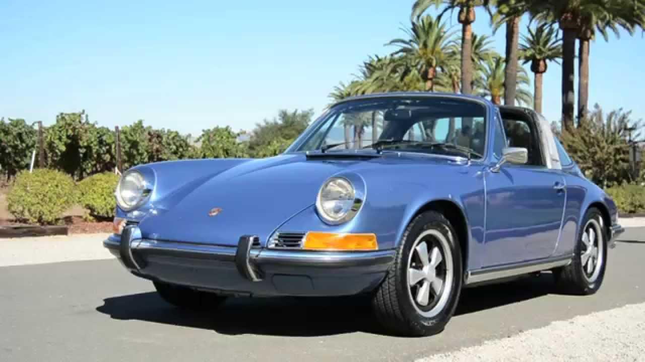 1972 Porsche 911t Targa Gemini Blue Youtube