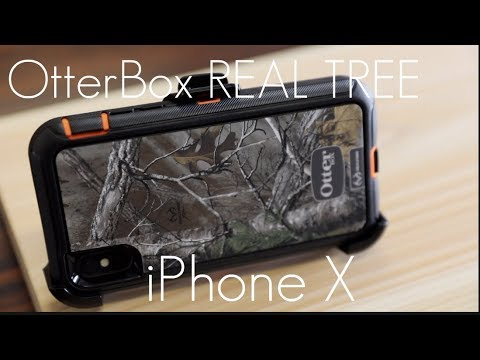 OtterBox Defender Case - REAL TREE EDITION -  iPhone X - Hands On Review!