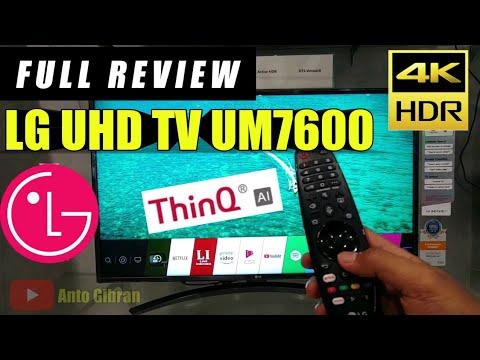 Full Review LG UM7600 ThinQ AI TV - Indonesia