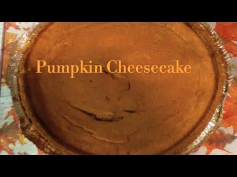 Making Pumpkin Cheesecake