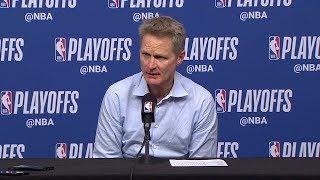 Steve Kerr Postgame Interview - Game 6 | Warriors vs Rockets | 2019 NBA Playoffs