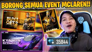 BORONG SEMUA EVENT MCLAREN!! KIRA KIRA HABIS BERAPA DIAMOND YA?!! - FREE FIRE INDONESIA