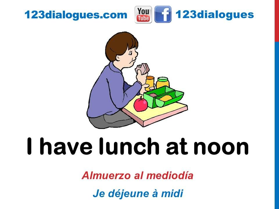 Curso de inglés 31 - Comidas del día en inglés Alimentos