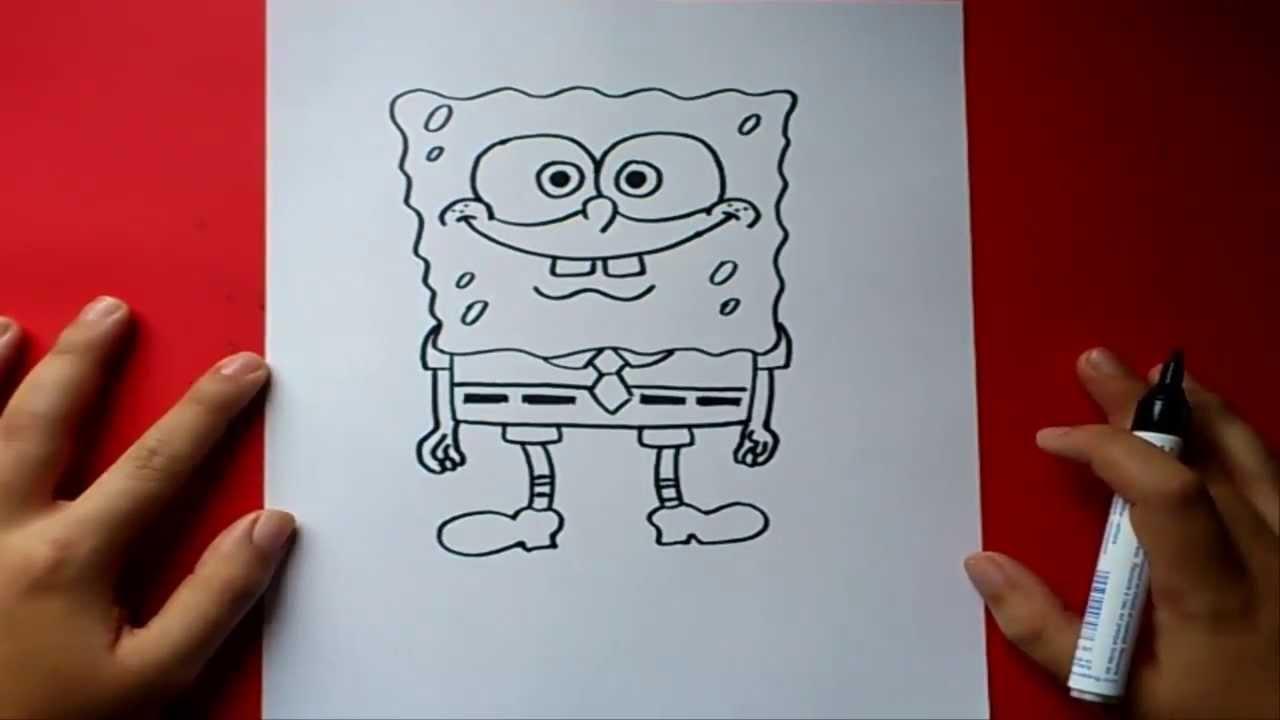 Como dibujar a Bob esponja paso a paso  Bob esponja  How to draw