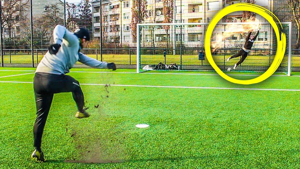 Epische Torwart Fussball Challenge