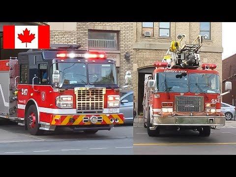Rosemont | Montréal Fire Department (SIM) - Pumper 247 Responding 2x & Truck Tests at Station 47