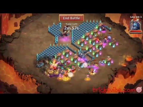 Castle Clash-Lava Isle 1 Strategy