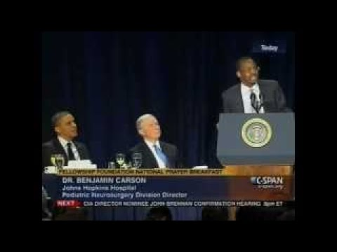 Dr. Benjamin Carson Lectures Obama on Health Care, Deficit, Taxes At Prayer Breakfast - Fe