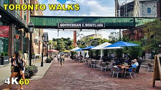 Toronto Distillery District & Canary District Walk (Narrated) on August 21, 2020 [4K]
