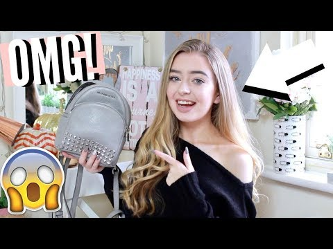 WHAT'S IN MY BAG AUTUMN 2017! MICHAEL KORS MINI BACKPACK!
