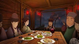 Chinese animation 中国唱诗班   《饮湖上初晴后雨》