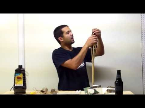 How to make your own beer bottle tiki torch.  Happy forth of July!