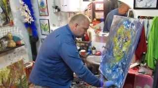 Видео-уроки живописи маслом, художник пишет картину