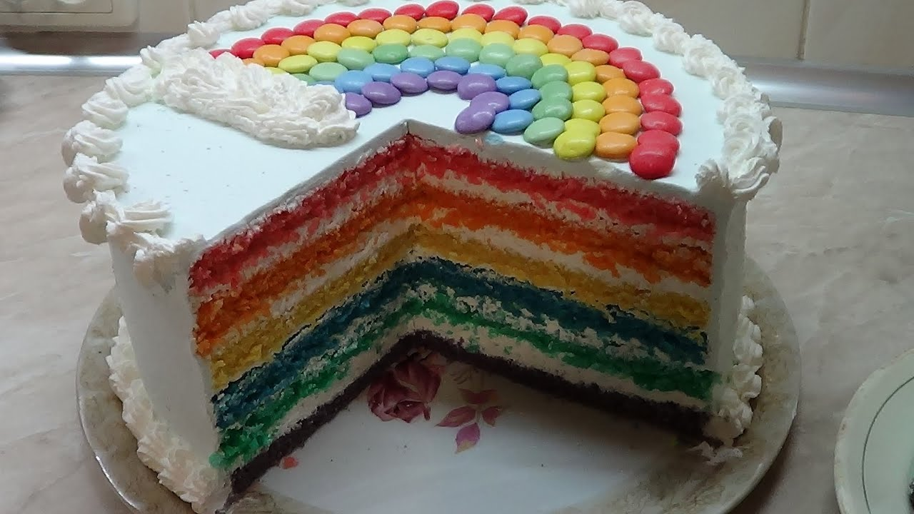 Радужный торт - YouTube
