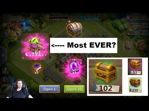 F2P Opening OVER 100 Fortress CHESTS Lava3 INSANE Boxes Castle Clash