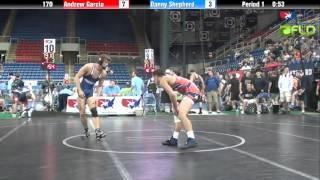 Junior 170 - Andrew Garcia (Michigan) vs. Danny Shepherd (Utah)