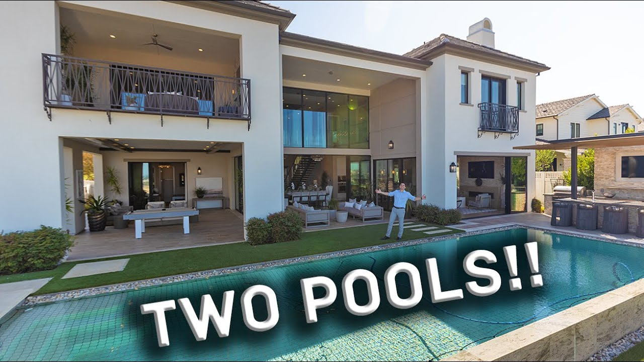 LUXURY Mansion Tour with Los Angeles City Views and TWO POOLS!