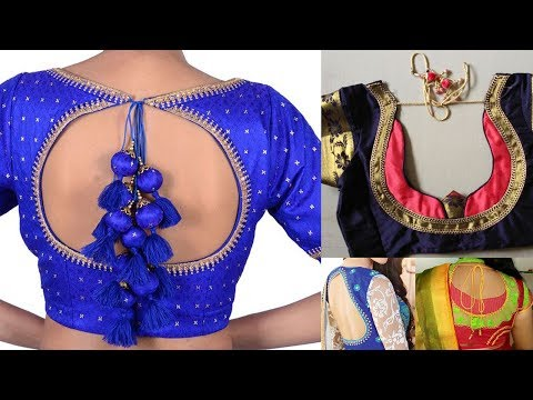 Beautiful Ideas for Pot Neck Saree Blouse Designs for Back 2018 - 2019