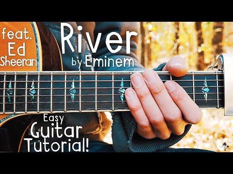 River Eminem Guitar Lesson for Beginners // River by Eminem & Ed Sheeran // Lesson #390