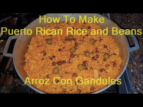 How To Make Puerto Rican Rice  Arroz Con Gandules