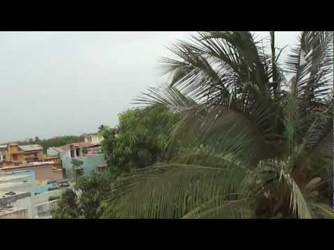 View from the rooftop of a house in Vyara, Surat, Gujarat, India; 20th April 2012