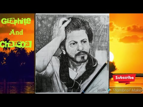 Shah rukh khan | shah rukh khan graphite and charcoal ...