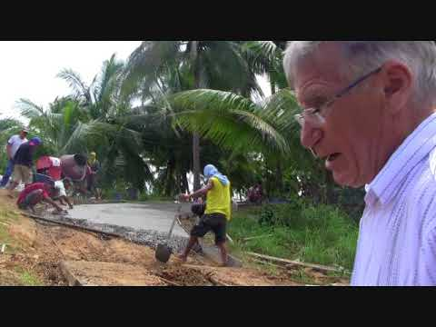 DAY 6 ROAD CEMENTING THE  PROJECT USING CEMENT MIXER EXPAT  PHILIPPINES